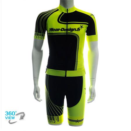 tenue wear design pro light 2015   jaune fluo noir