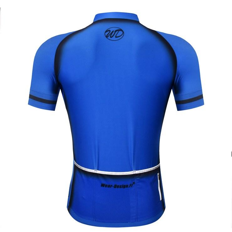 18701a962 ... Maillot vélo ELEGANCE bleu noir